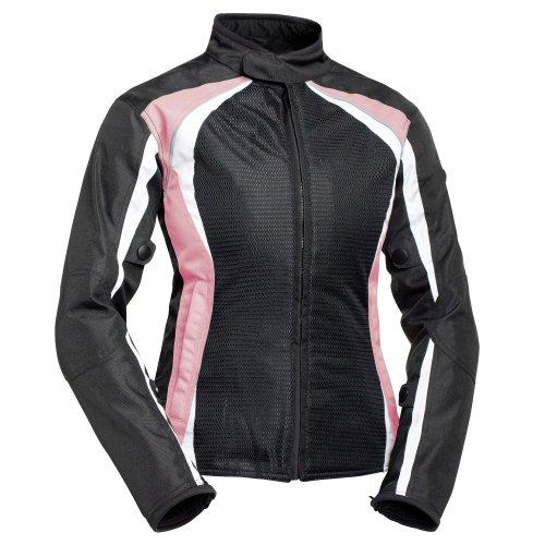 Bilt Women's Calypso Mesh Motorcycle Jacket - Md, Pink/black