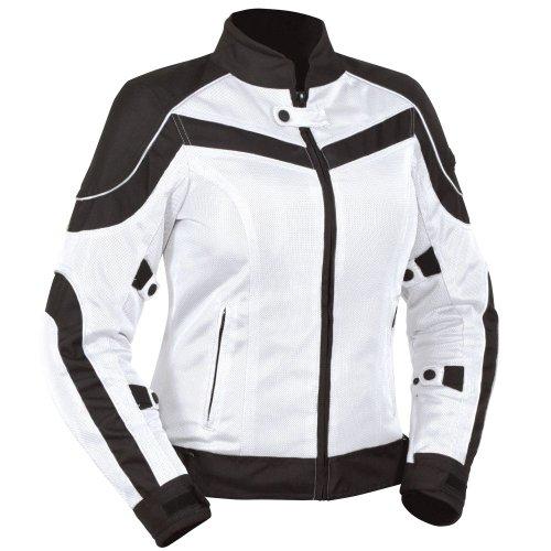 Bilt Women's Techno Mesh Motorcycle Jacket - Sm, White/black
