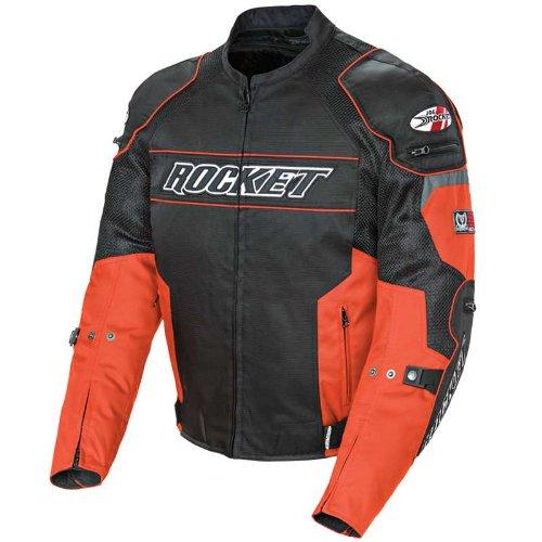 Joe Rocket Men's Mesh Resistor Motorcycle Jacket Orange/black Large