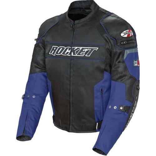 Joe Rocket Resistor Men's Mesh Sports Bike Racing Motorcycle Jacket - Blue/black / 2x-large