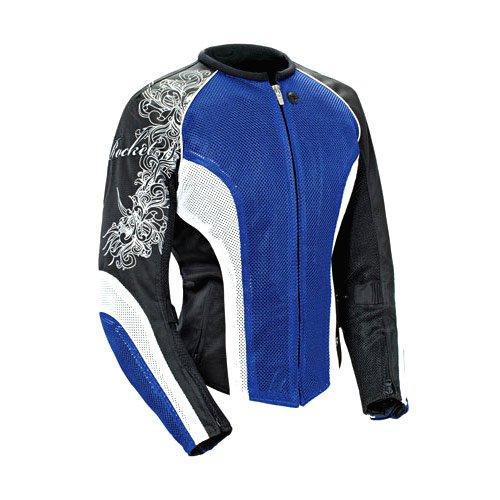 Joe Rocket Womens Cleo 2.2 Blue/white/black Mesh Motorcycle Jacket - Small