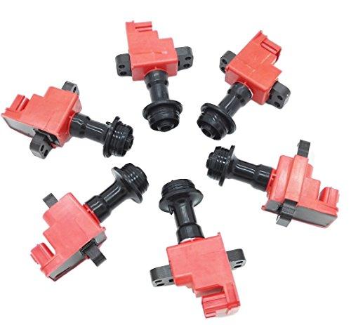 6 pcs Ignition Coil Pack Fits Nissan Skyline R34 GTT ER34 ENR34 RB25 NEO