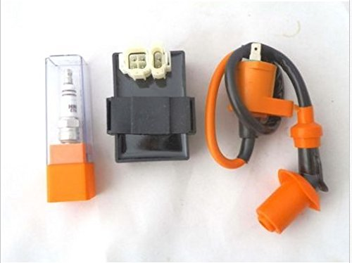 YunShuo GY6 150cc Gas Scooters DC CDI Box Performance Ignition Coil Spark Plug Moped
