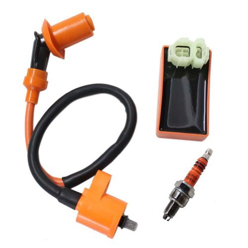 Poweka New Pack of Racing Cdi  Ignition Coil  Spark Plug for Honda Xr Crf Crf50 Xr50 Xr70 Xr80 Xr100
