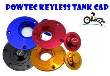 POWTEC Quick Release CNC Billet Keyless Fuel Gas Tank Cap for Kawasaki ZX10R 2006-2015ZX6R 2007-2015ZX14R ZZR1400 2007-2015-Black