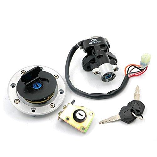 Alpha Rider Ignition Switch Fuel Gas Petrol Cap Cover Seat Lock Keys Set for Suzuki GSXR600 1997 - 2000 GSXR750 1993 - 1999