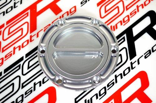 Triumph CNC Keyless Billet Silver Gas Fuel Petrol Cap Lid 2009-2013 Daytona 675RSE Speed Triple