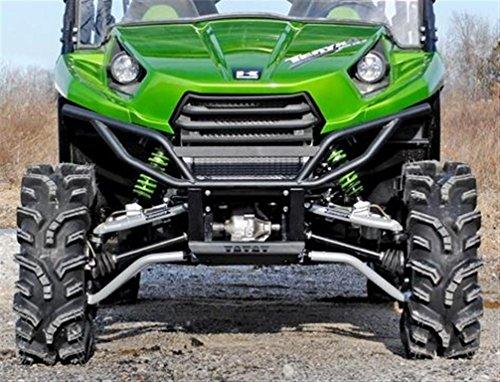 Super ATV Kawasaki Teryx 4 High Clearance Forward Offset Front A-Arms Black
