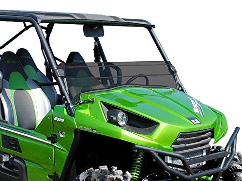 SuperATV Kawasaki Teryx 4 750800 Scratch Resistant Half Windshield - Dark Tint Standard 2012-2015