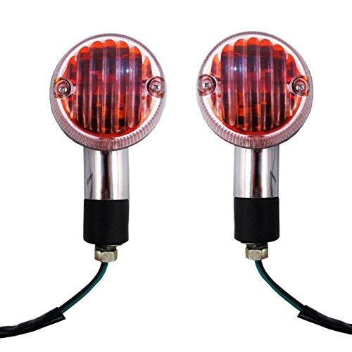 Kawasaki Drifter Large Chrome Round Motorcycle Turn Signal Indicator Blinker Lights Pair