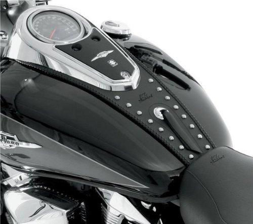 Mustang Studded Tank Bibs for Harley Davidson 1996-2008 Kawasaki Drifter 42 ga - One Size