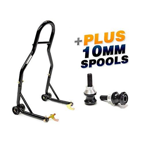 Venom Sport Bike Motorcycle Rear Wheel Swingarm Spool Lift Stand  Low Profile 10mm Black Swingarm Spools Fits Most Kawasaki Bikes