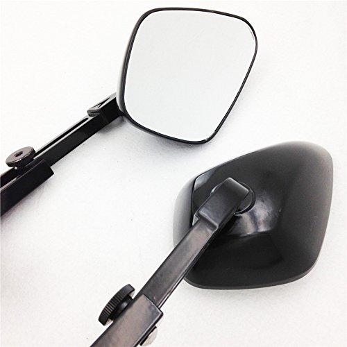XKH Group Motorcycle Diamond Shape Rearview Mirrors For Honda Suzuki Yamaha Kawasaki Bike Black New NEW