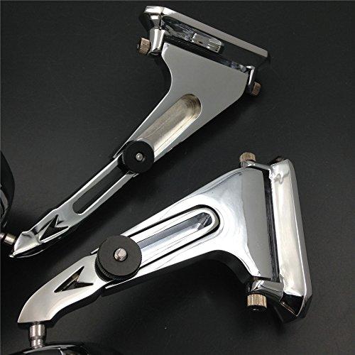 XKH Group Motorcycle Diamond Shape Rearview Mirrors For Honda Suzuki Yamaha Kawasaki Bike Chromed NEW
