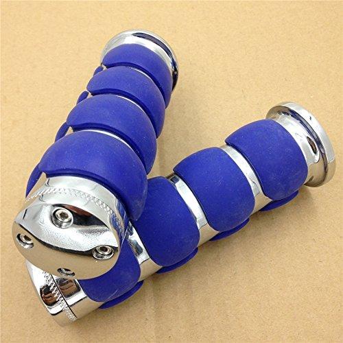 Motorbike Kawasaki Mean Streak Drifter Classic Chromed Blue Plain 78 Rubber Hand Grip