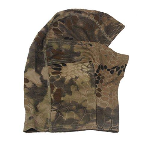 Xusun 1PC Camouflage Army Cycling Motorcycle Cap Balaclava Hats Full Face Mask Brown