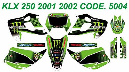 5004 KAWASAKI KLX 250 2001 2002 DECALS STICKERS GRAPHICS KIT