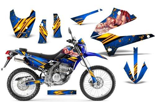 CreatorX Kawasaki Klx 250 D Tracker Graphics Kit Decals Stickers Little Sins Blue Incl Number Plate Graphics
