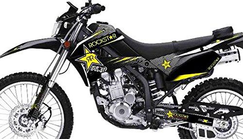 Kawasaki KLX 250 Custom Sticker Graphic Decals Kits RR Rockstar Black