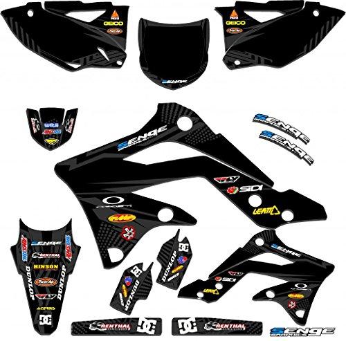 Senge Graphics 2004-2007 Kawasaki KLX 250 Mayhem Black Graphics Kit