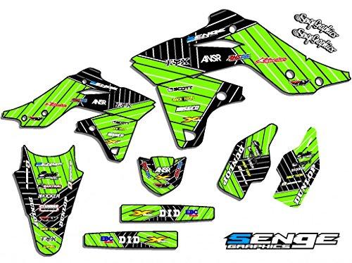 Senge Graphics 2004-2007 Kawasaki KLX 250 Race Series Green Graphics Kit