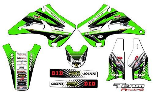 Team Racing Graphics kit for 2003-2012 Kawasaki KX 125250 ANALOG Base kit