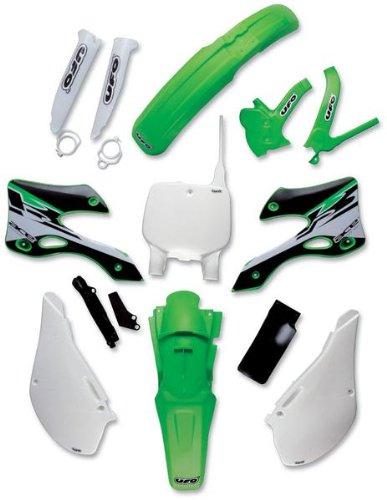 UFO Plastics Rear Fender Green for Kawasaki KX 125 250 99-02