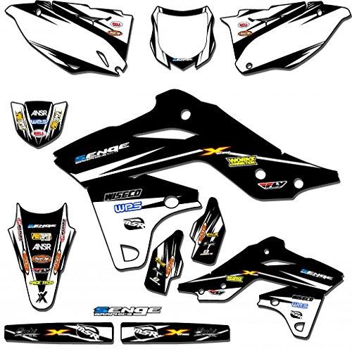 Senge Graphics 1997-2008 Kawasaki KLX 300 Velocity Black Graphics Kit