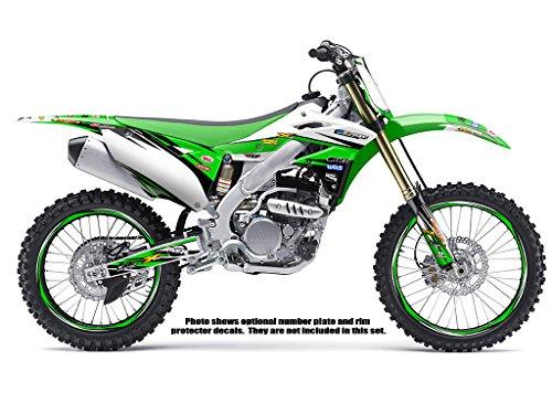 Senge Graphics 1997-2008 Kawasaki KLX 300 Velocity Green Graphics Kit