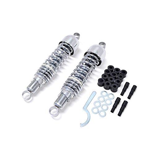 Kawasaki H2 ABC 750 72-75 325MM EyeEye Chrome Rear Shocks by Niche Cycle Supply
