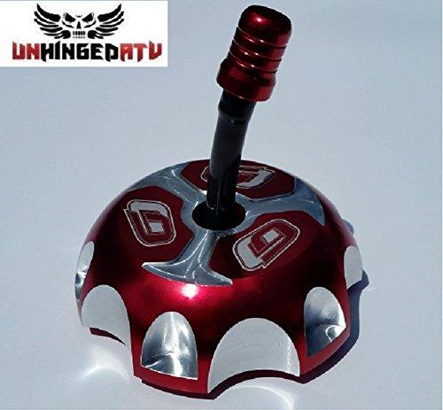 Honda CR125 CR250 Goldspeed Billet Gas Cap RED Unhinged ATV