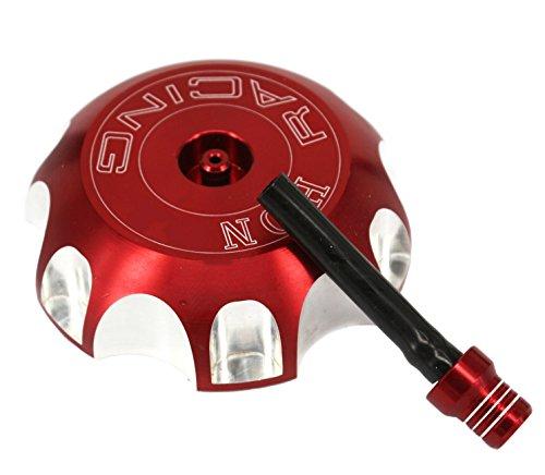 ZJTG AUTOMOTIVE Billet Gas Fuel Tank Cap For HONDA CRF250 CRF450 XR250 XR400 XR650 XR600 Red