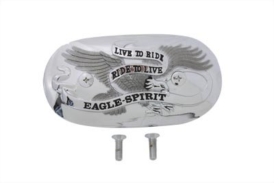 V-Twin 34-0986 - Eagle Spirit Oval Chrome Air Cleaner Insert