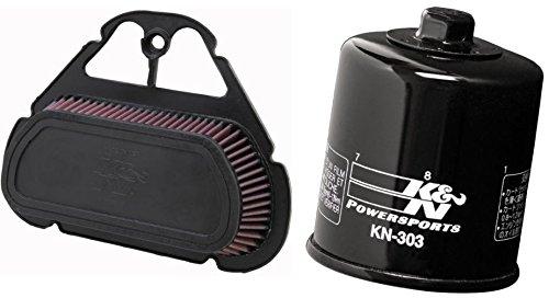 K&N Motorcycle Air Filter  Oil Filter Combo 1999-2005 Yamaha YZF R6  YA-6001  KN-303