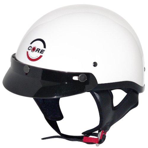 Core Cruiser Shorty Half Helmet (white, X-large)
