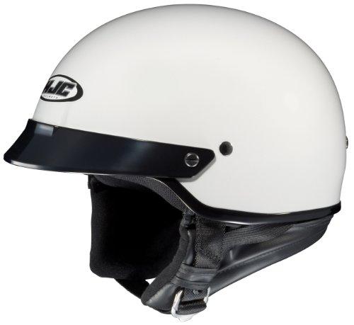 Hjc Cs-2n Motorcycle Half-helmet (white, Large)