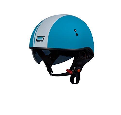 Origine O535 Vista Half Helmet With Race Stripe (flat White, Medium)