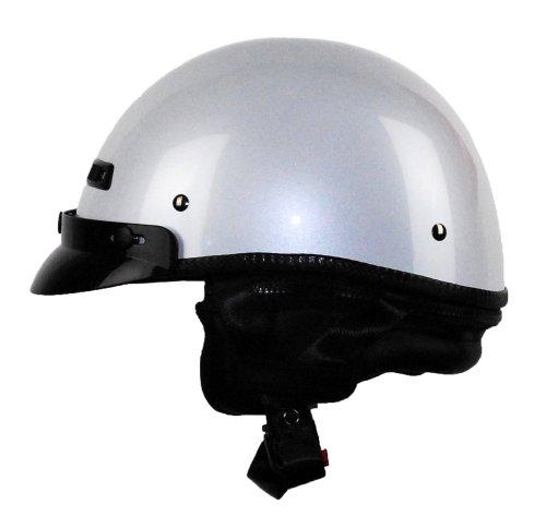 Vega Xta Touring Half Helmet (pearl White, X-large)