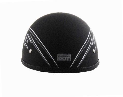 Vega Xts Half Helmet With Eagle Graphic (black /white/grey, Medium)