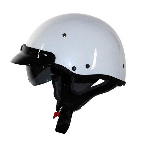Vega Xtv Half Helmet (pearl White, Medium)