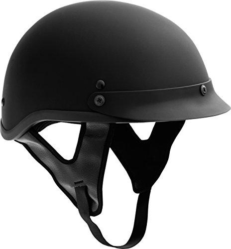 Fuel Helmets SH-HHFL67 HH Series Half Helmet Flat Black X-Large