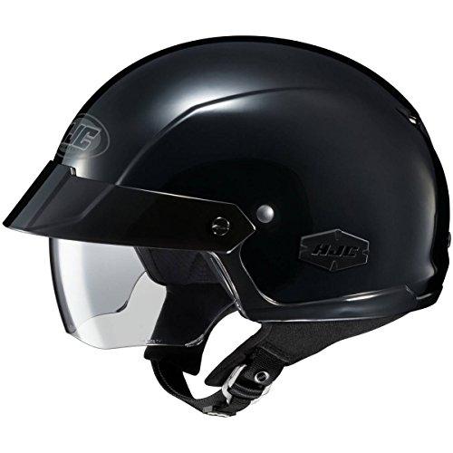 HJC Solid IS-Cruiser Half 12 Shell Motorcycle Helmet - Black  X-Large