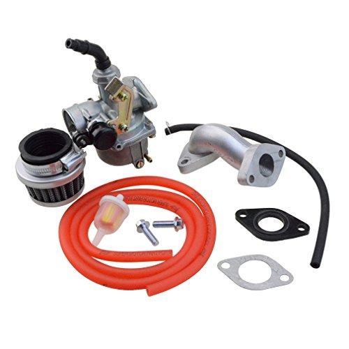 GOOFIT PZ19 Carburetor with Air Filter Carburetor Rebuild Kit for Honda XRCRF 50cc 70cc 90cc 110cc 125cc Moped ATV POLARIS Taotao Sunl Roketa Baja Kazuma Red