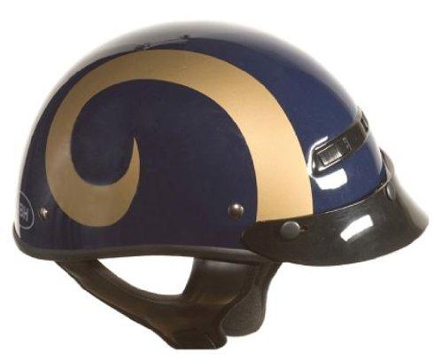 Brogies Bikewear Nfl St. Louis Rams Motorcycle Half Helmet (blue, X-small)