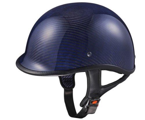 Glx Blue Carbon Polo Half Helmet (xxx-large)