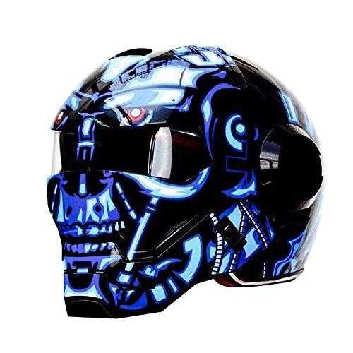 Masei 610 High Quality Blue War Machine Motorcycle Chopper Helmet Half Helmet