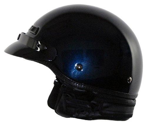 Vega Xt Dark Blue Metallic Xx-large Half Helmet