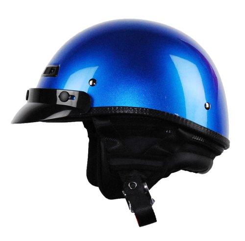 Vega Xta Touring Half Helmet (ultra Blue Metallic, X-small)