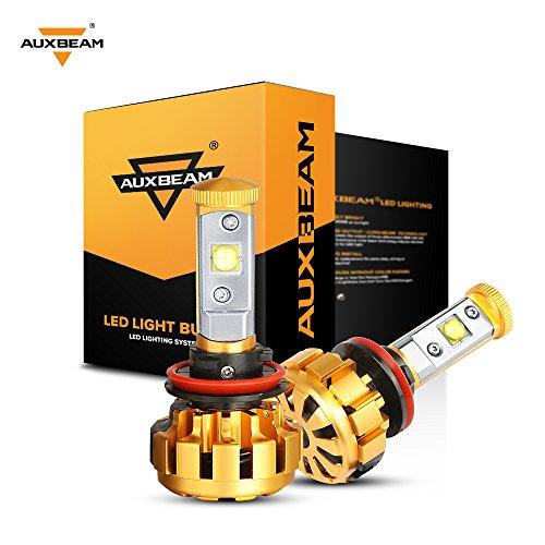 Auxbeam H11 LED Headlight Bulb F-16 Series LED Headlight with 2 Pcs of headlights H8 H9 60W 6000lm CREE LED Chips Fog Light - 1 Year Warranty