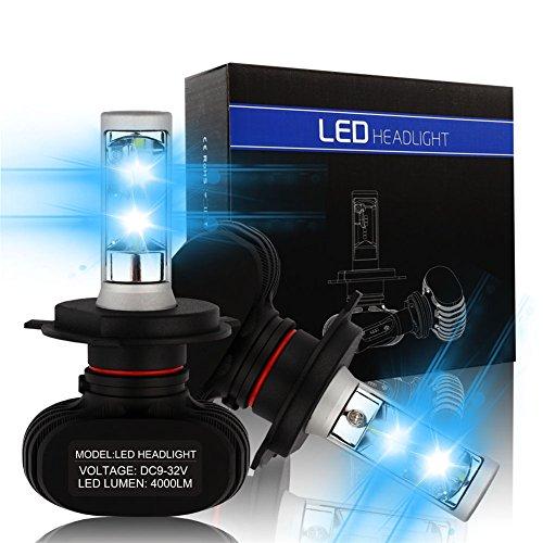 H49003 HB2  Snorda Automotive LED Headlights Bulbs  Car Headlight Kit8000LM50wSet 6500K Cool WhiteIP68 Waterproof 6PCS LEDEach BulbPack of 2